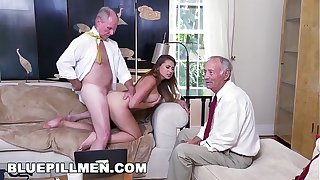 Downcast PILL Individuals - Young PAWG Ivy Rose Stuffed With Geriatric Cock